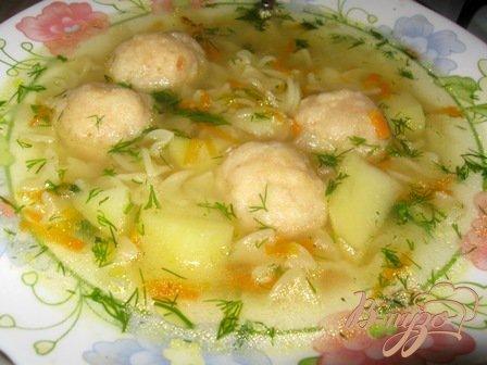 фото рецепта: Суп с сырными  шариками