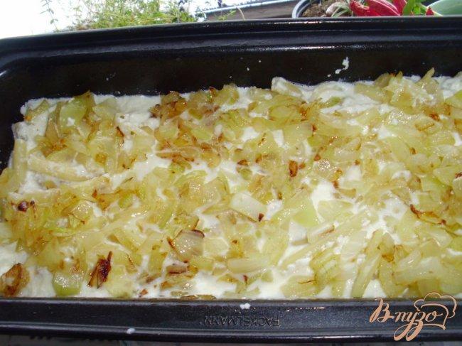 Фото приготовление рецепта: Запеканка из макарон и брынзы шаг №4