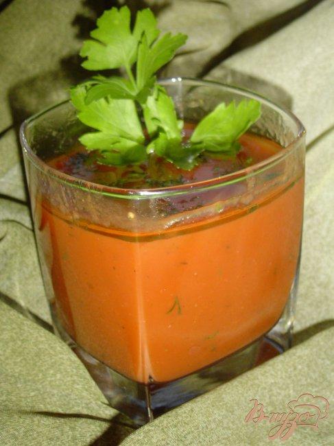 Фото приготовление рецепта: Напиток из томатного сока с укропом. шаг №2