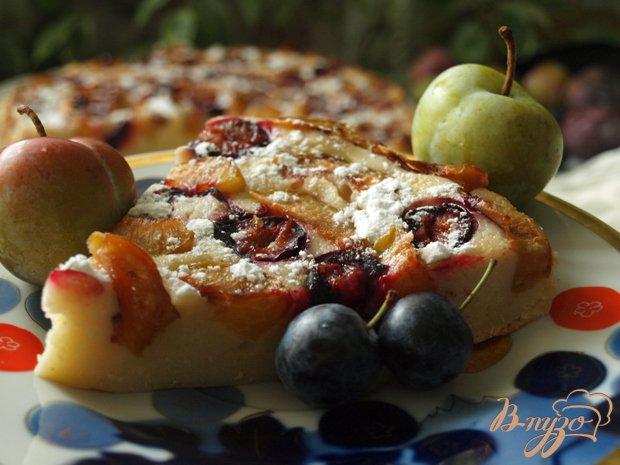 Рецепт Нежный сырно-сливовый пирог