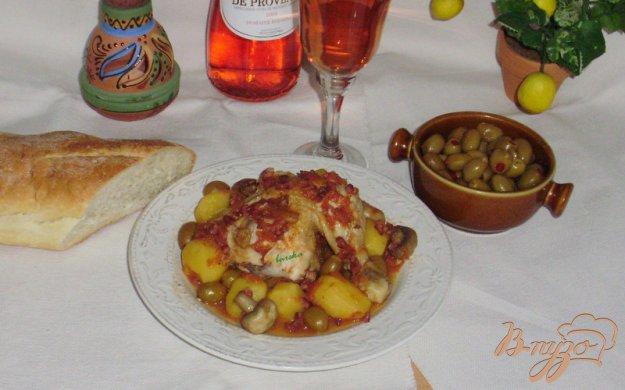 """Рецепт Курица с оливками по-корсикански """"Poulet aux olives"""""""