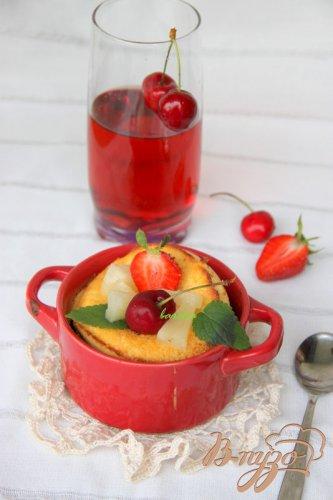 Воздушные блинчики  с ягодами