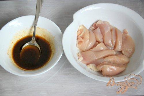 Баклажаново-куриный шашлык