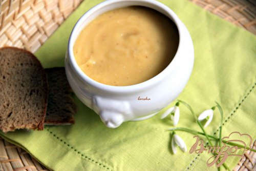 Постный гороховый суп-пюре с корешками