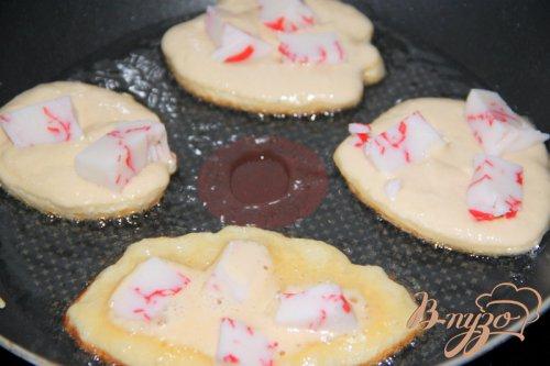 Закусочные оладушки с крабовым мясом