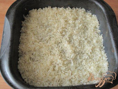 Курица запеченная с рисом.