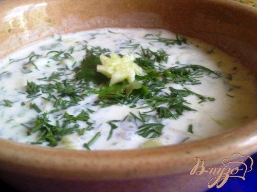 Холодный суп из кефира
