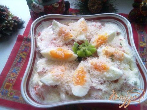Салат «Слоеный с креветками»