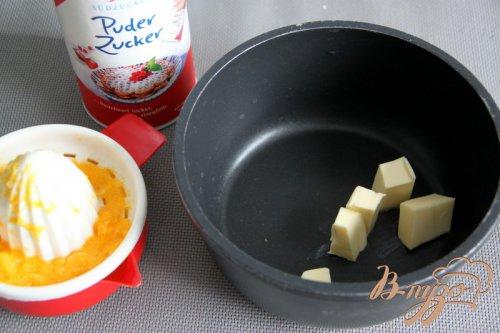 Сметанно-шоколадный кекс с апельсиновой глазурью