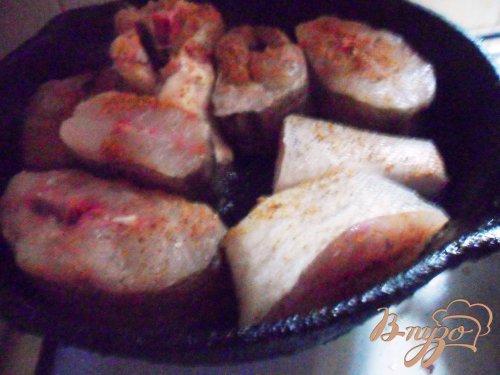 Рыба, запечёная в овощах