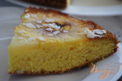 Пирог-перевертыш с ананасами