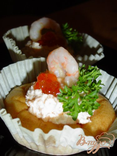 Пирожное рыбно-икорное