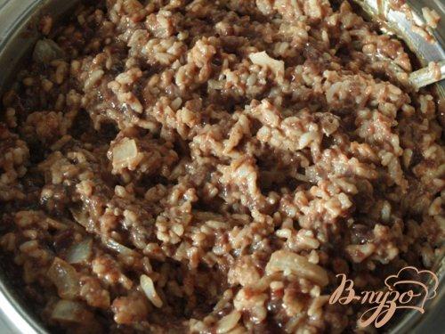Котлеты из печени с рисом