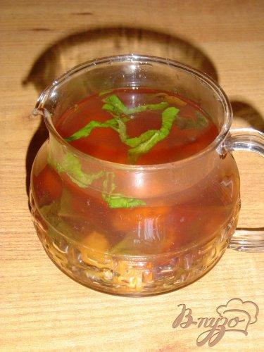 Чай зеленый с персиком, вишней и мятой