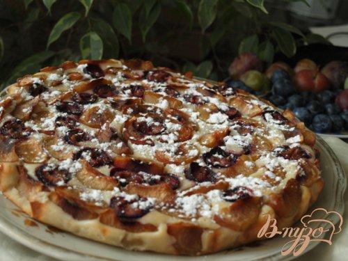 Нежный сырно-сливовый пирог