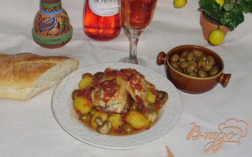 """Курица с оливками по-корсикански """"Poulet aux olives"""""""