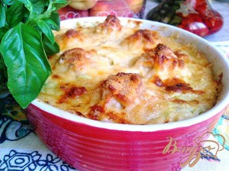 Рецепт Суфле из кабачка с куриными фрикадельками