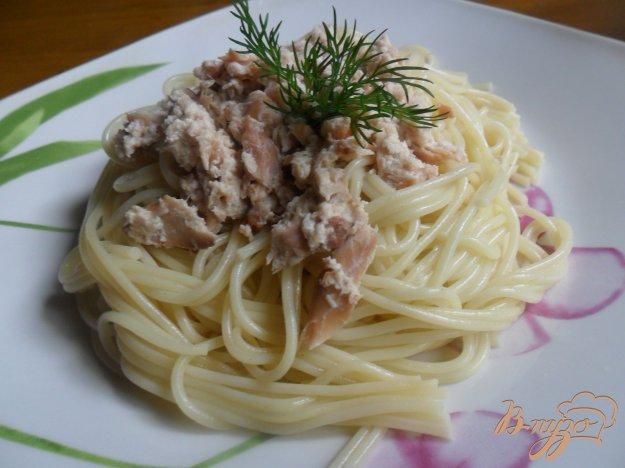 Рецепт Спагетти с рыбой в сливках
