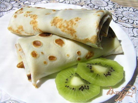 Рецепт Блинчики с киви и смородиновым джемом