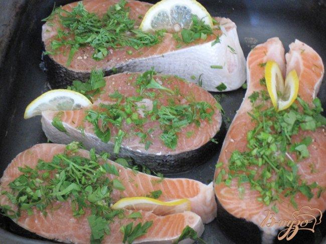 Фото приготовление рецепта: Стейки из лосося шаг №2