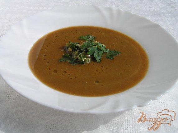 Фото приготовление рецепта: Суп-пюре из чечевицы с морковью шаг №7