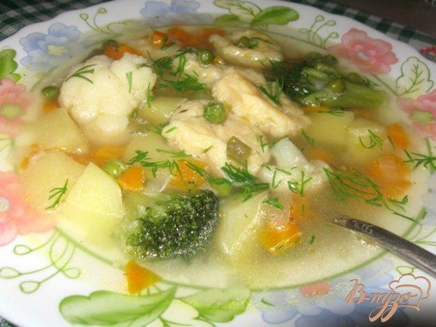 Рецепт Суп с сырными клецками и овощами