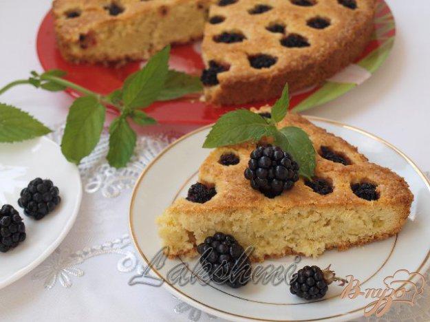 Рецепт Кокосовый пирог с ежевикой
