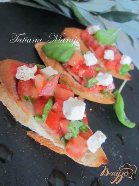 Рецепт Брушетта..вкус Средиземноморья