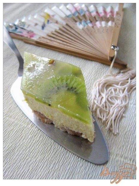 Рецепт Желейный торт с киви