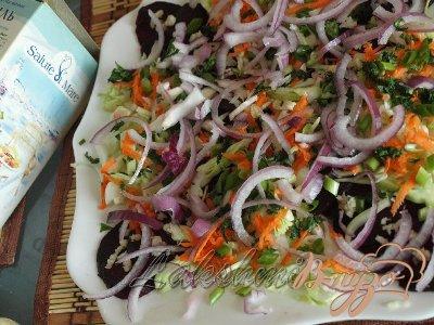 Свекольный карпаччо с овощами
