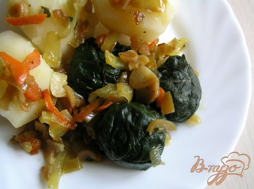 Рецепт Шпинат с овощами в соусе терияки