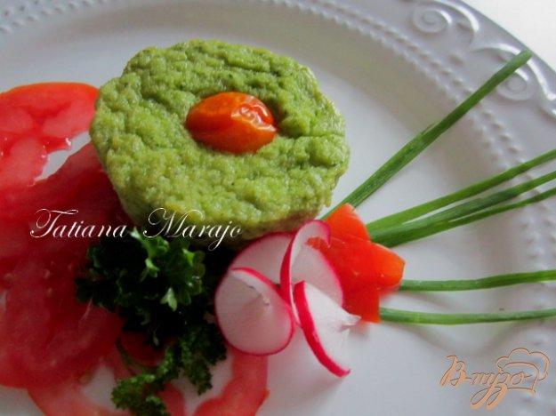 Рецепт Кабачковый флан с базиликом и томатами..