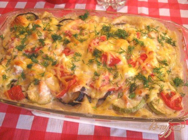 Рецепт Лазанья с семгой и овощами.