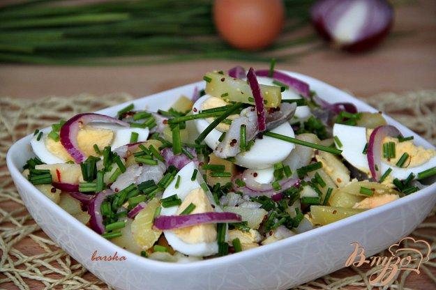 Рецепт Салат из картофеля, сельди и яблока