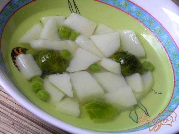фото рецепта: Овощной суп с брюссельской капустой