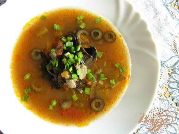 Фото приготовление рецепта: Постная грибная солянка шаг №9