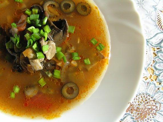 Рецепт Постная грибная солянка