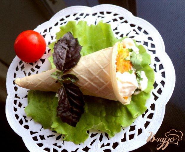 Рецепт Рожки с куриным паштетом