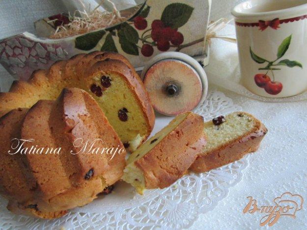 фото рецепта: Кекс с вяленой вишней