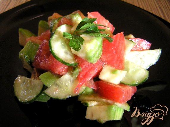 фото рецепта: Необычный обычный салат :)