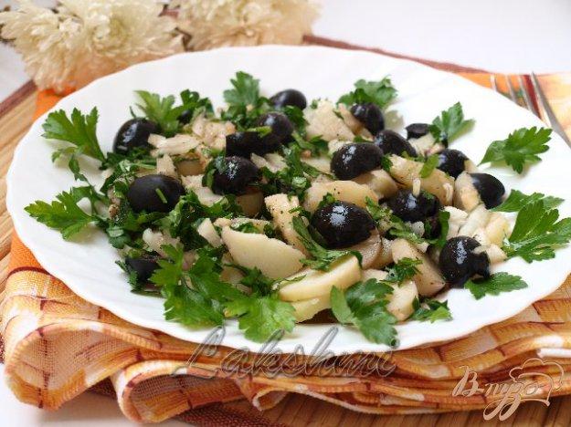 Рецепт Постный картофельный салат с оливками