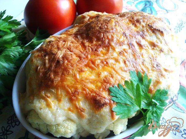 Фото приготовление рецепта: Цветная капуста с соусом шаг №10