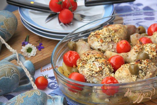 Рецепт Жаркое из курицы с лимоном и брынзой