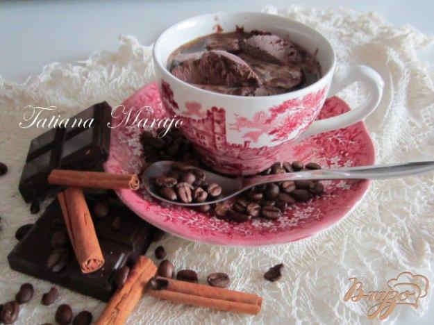 Рецепт Кофе с шоколадным мороженым...
