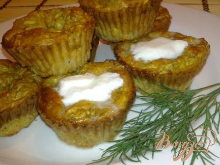 Рецепт Кабачковые кексы с творогом