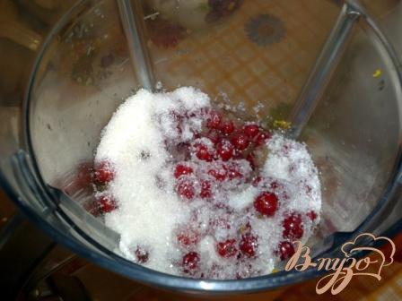 Ягодный сорбе из красной смородины