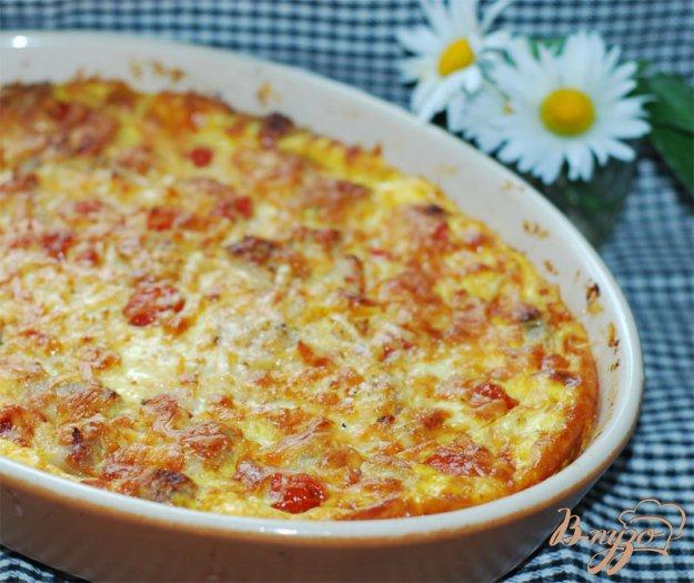 Рецепт Картофельный пирог с мясом и овощами.