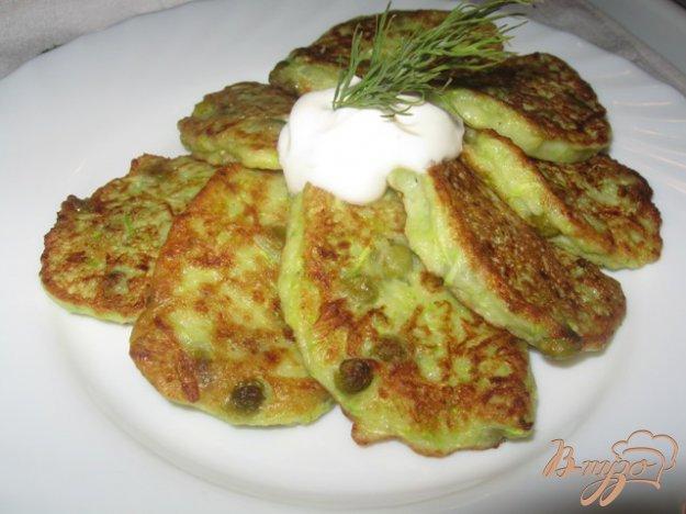 Рецепт Оладьи кабачковые с зеленым горошком