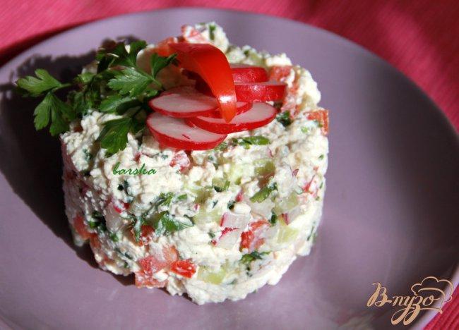 Фото приготовление рецепта: Творожная закуска с овощами шаг №5
