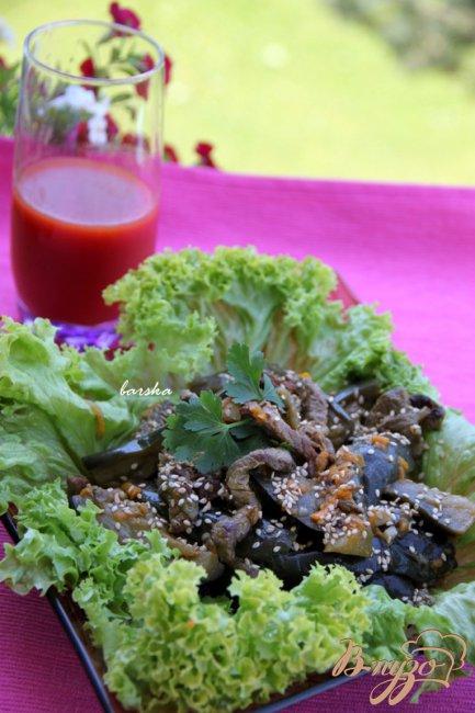 Фото приготовление рецепта: Баклажаны с говядиной шаг №7